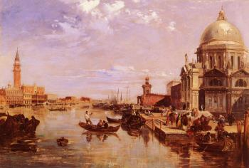 Edward Pritchett : A View Of The San Giorgio Church And The Grand Canal