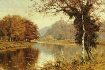 Edward Wilkins Waite : A Woodland Pool in Autumn