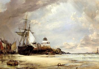 Edward William Cooke : The Pier And bay Of St Ives Cornwall