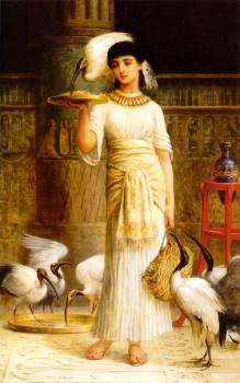 Edwin Longsden Long : Alethe Attendant of the Sacred Ibis in the Temple of Isis at