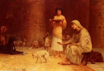 Edwin Longsden Long : Preparing For The Festival Of Anubis