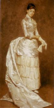 Charlotte Dufaux, in her wedding dress