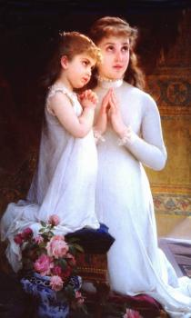 Emile Munier : girls praying