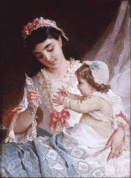 Emile Munier : distracting the baby