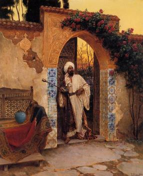 Rudolf Ernst : By the Entrance