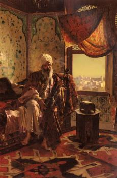 Rudolf Ernst : Smoking The Hookah