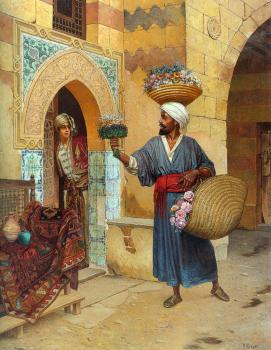 Rudolf Ernst : The Flower Seller