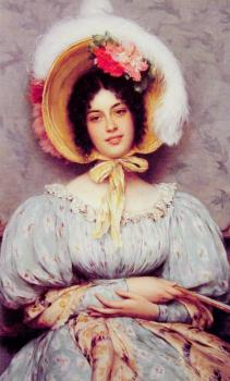 Eugene De Blaas : A Viennese Beauty