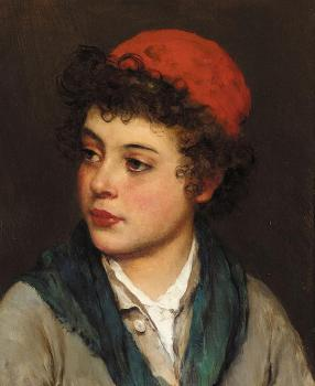 Eugene De Blaas : Portrait of a Boy