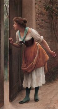 Eugene De Blaas : The Eavesdropper