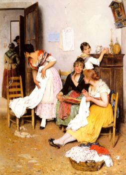 Eugene De Blaas : The New Suitor