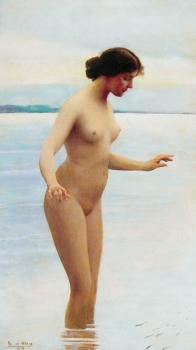 Eugene De Blaas : In the water