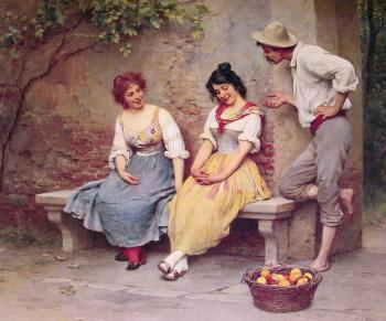 Eugene De Blaas : The Flirtation II