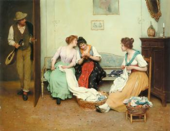 Eugene De Blaas : The Friendly Gossips
