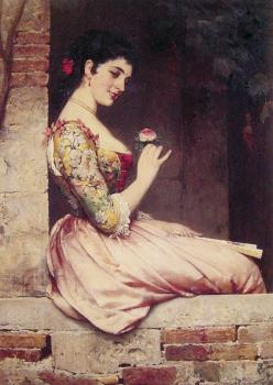 Eugene De Blaas : The Rose