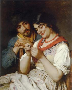 Eugene De Blaas : The Seamstress