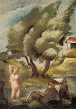 Eugeniusz Zak : Bathing (Pastoral)