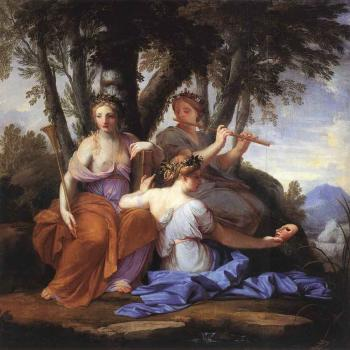 The Muses Clio Euterpe And Thalia