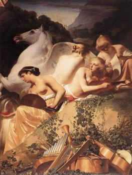 The Four Muses with Pegasus