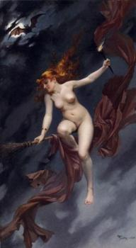 Luis Ricardo Falero : A Fairy Under Starry Skies