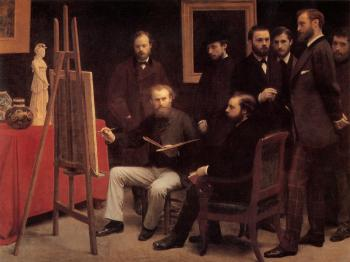 Henri Fantin-Latour : A Studio in the Batignolles