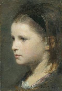 Henri Fantin-Latour : Head of a young girl