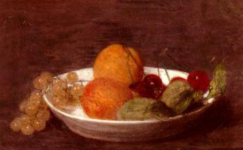 Henri Fantin-Latour : A Bowl Of Fruit