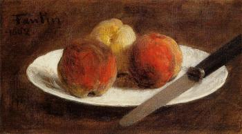 Henri Fantin-Latour : Plate of Peaches