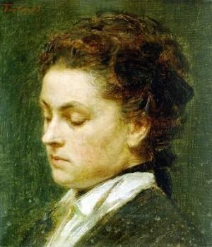Henri Fantin-Latour : Portrait of young woman