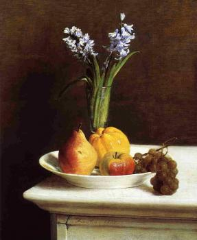 Still Life Hyacinths and Fruit