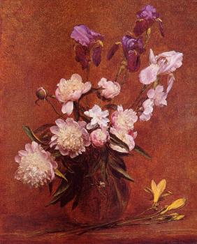 Bouquet of Peonies and Iris