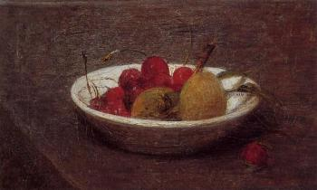 Still Life of Cherries and Almonds
