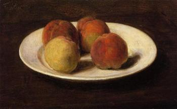 Still Life of Four Peaches II