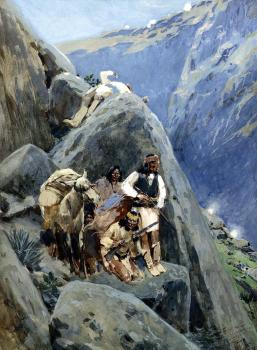 Apache Indians in the Mountains