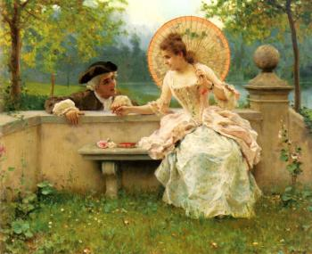 Federico Andreotti : A Tender Moment In The Garden