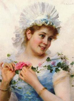 Federico Andreotti : A Young Girl With Roses