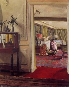 Interior with Woman in Pink