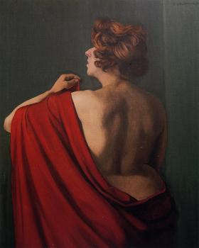 Woman with Red Shawl
