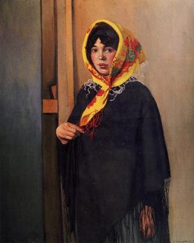 Young Woman with Yellow Scarf