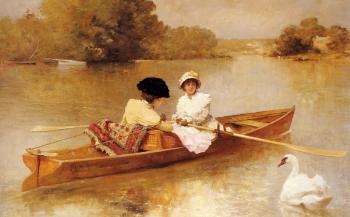 Ferdinand Heilbuth : Boating On The Scene
