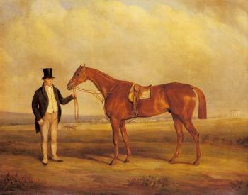 John Ferneley : A Gentleman Holding Dangerous, the Winner of the Derby