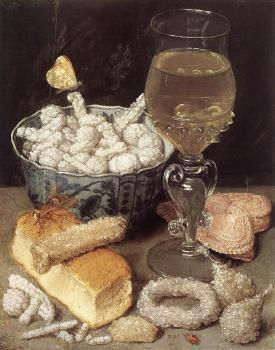 George Flegel : Still-Life with Bread and Confectionary