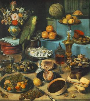 George Flegel : Still-life with Parrot