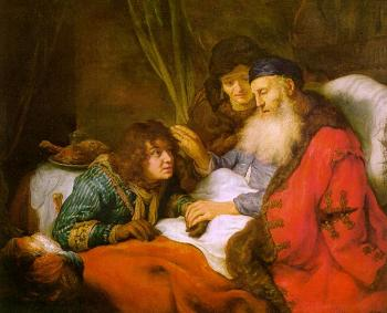 Govert Teunisz Flinck : Isaac Blessing Jacob