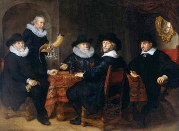 Govert Teunisz Flinck : Four Governors of the Arquebusiers Civic Guard, Amsterdam