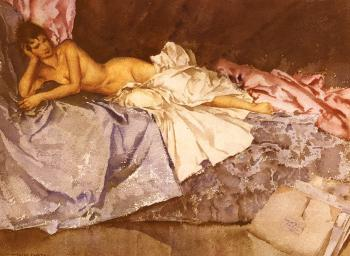 Sir William Russell Flint : Abigail, A New Model