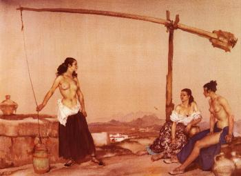 Sir William Russell Flint : Disputation at the Well