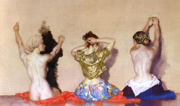 Sir William Russell Flint : Miriam, Chloe and Jane