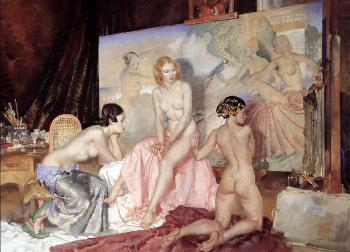 Sir William Russell Flint : Models For Olympians