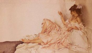 Sir William Russell Flint : The Diamond Necklet